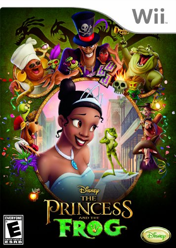 The Princess and the Frog Nintendo Wii artwork