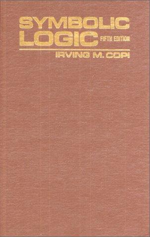 Symbolic Logic  5th 1979 edition cover