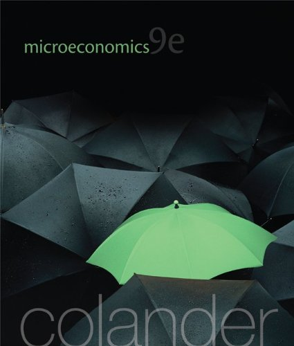 Microeconomics  9th 2013 9780077501808 Front Cover