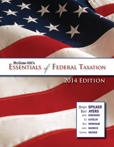 McGraw-Hill's Essentials of Federal Taxation, 2014:  2nd 2013 edition cover