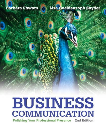 Business Communication Polishing Your Professional Presence 2nd 2014 edition cover