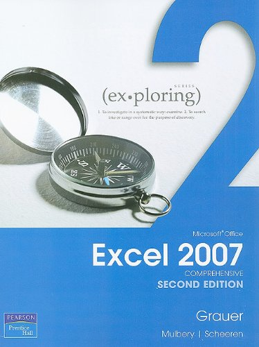 Exploring Microsoft Office Excel 2007  2nd 2010 9780135119808 Front Cover