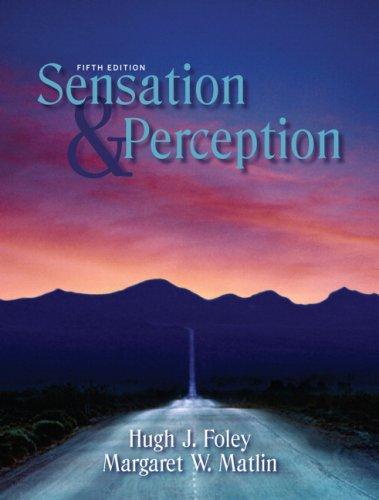 Sensation and Perception  5th 2010 edition cover