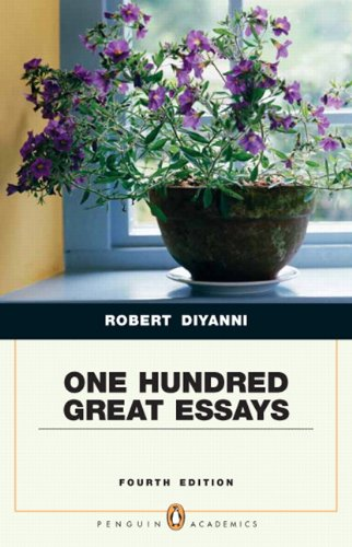 One Hundred Great Essays (Penguin Academics Series)  4th 2011 edition cover