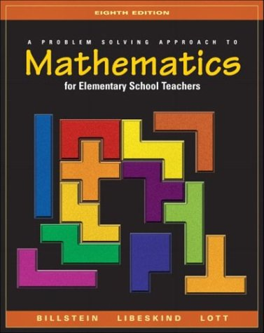 Problem Solving Approach to Mathematics for Elementary School Teachers  8th 2004 edition cover