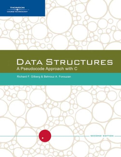 Data Structures : a Pseudocode Approach with C  2nd 2005 (Revised) 9780534390808 Front Cover