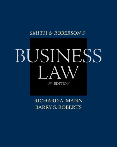 Business Law  15th 2012 9780538475808 Front Cover