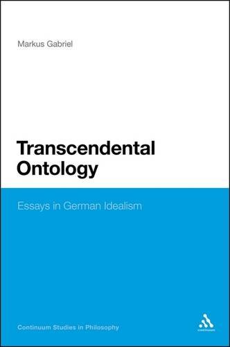 Transcendental Ontology Essays in German Idealism  2013 edition cover
