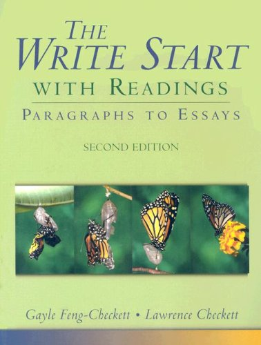 Checkett Write to Start:Sentences and Paragraphs with Readings Secondedition Sentences and Paragraphs with Readings Secondedition 2nd 2005 9780618917808 Front Cover
