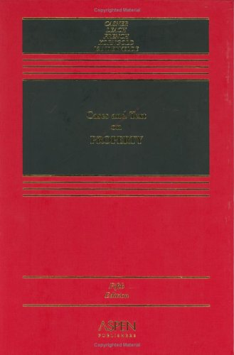 Cases and Text on Property  5th 2004 (Revised) edition cover