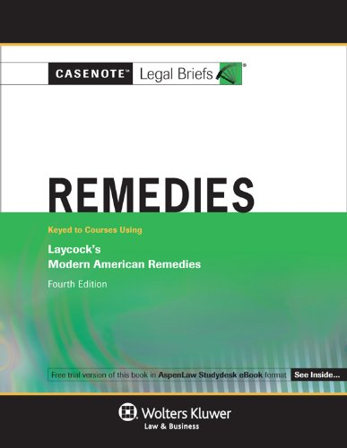 Remedies Laycock's Modern American Remedies 4th (Student Manual, Study Guide, etc.) edition cover