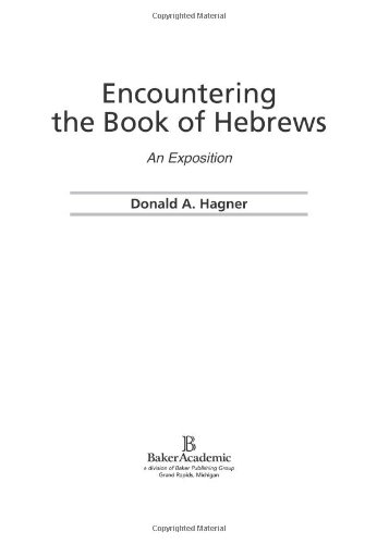 Encountering the Book of Hebrews An Exposition  2002 edition cover