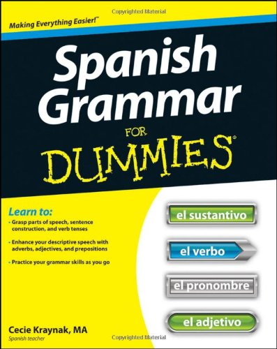 Spanish Grammar for Dummies   2012 edition cover