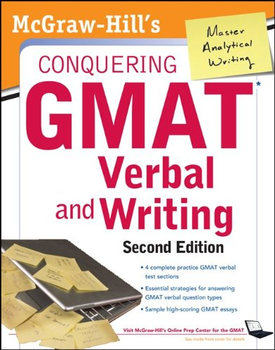 McGraw-Hills Conquering GMAT Verbal and Writing, 2nd Edition  2nd 2012 9780071775809 Front Cover