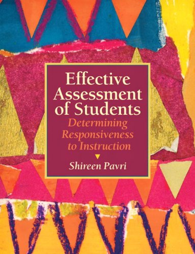 Effective Assessment of Students Determining Responsiveness to Instruction  2012 (Revised) edition cover