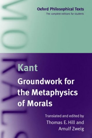 Groundwork for the Metaphysics of Morals   2003 edition cover