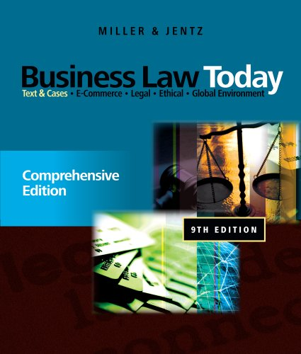 Business Law Today Text and Cases 9th 2012 9780538452809 Front Cover