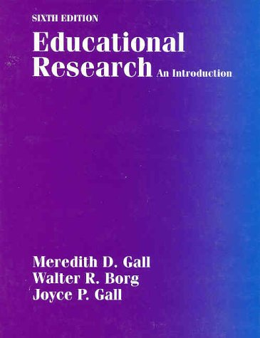 Educational Research An Introduction 6th 1996 edition cover