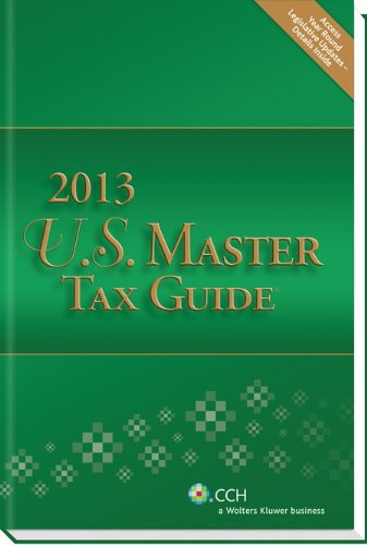 US Master Tax Guide (2013)  N/A 9780808029809 Front Cover