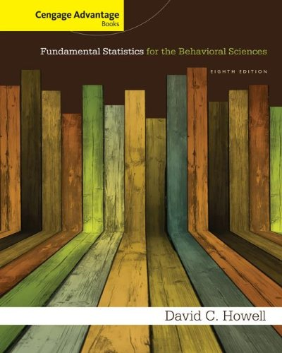 Fundamental Statistics for the Behavioral Sciences:  8th 2013 edition cover