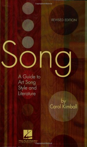 Song A Guide to Art Song Style and Literature  2005 edition cover