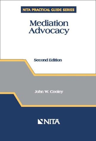Mediation Advocacy 2nd 2002 edition cover