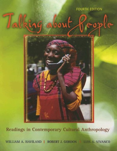 Talking about People Readings in Contemporary Cultural Anthropology 4th 2006 9780072994810 Front Cover