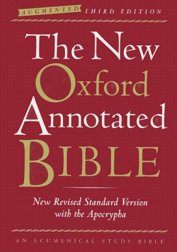 New Oxford Annotated Bible  3rd 2007 (Annotated) edition cover