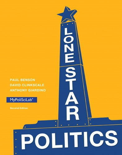 Lone Star Politics  2nd 2014 edition cover
