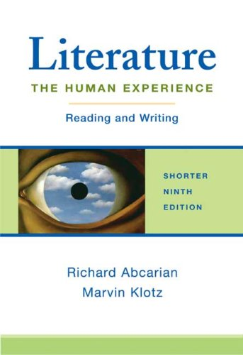 Literature - The Human Experience Reading and Writing 9th 2007 edition cover