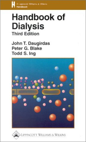 Handbook of Dialysis  3rd 2001 (Revised) edition cover