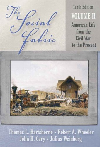 Social Fabric American Life from the Civil War to the Present 10th 2006 (Revised) edition cover