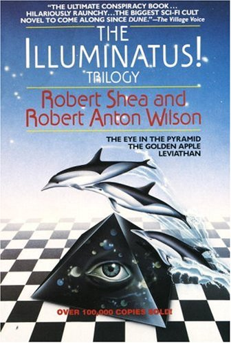 Illuminatus! Trilogy The Eye in the Pyramid - The Golden Apple - Leviathan  1975 edition cover