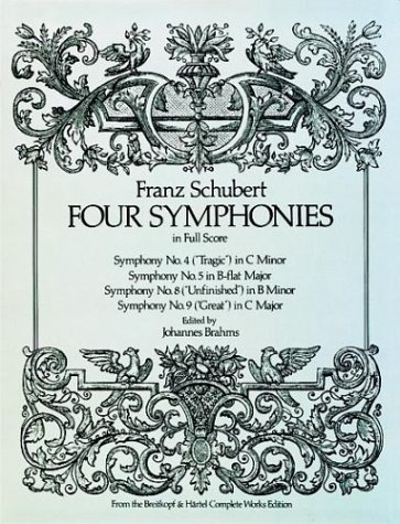 Four Symphonies in Full Score  Unabridged edition cover