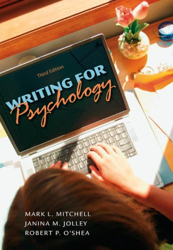 Writing for Psychology  3rd 2010 edition cover