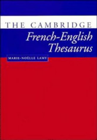 Cambridge French-English Thesaurus   1998 edition cover