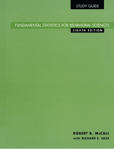 Study Guide for Fundamental Statistics for Behavioral Sciences, 8th  8th 2001 9780534577810 Front Cover
