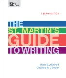 St. Martin's Guide to Writing  10th 2013 edition cover