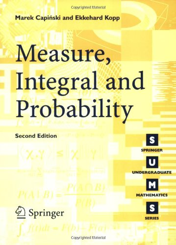 Measure, Integral and Probability  2nd 2004 (Revised) edition cover