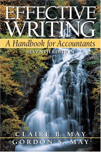 Effective Writing Handbook for Accountants 7th 2006 edition cover