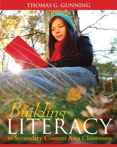 Building Literacy in Secondary Content Area Classrooms   2012 edition cover