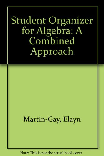 Student Organizer for Algebra A Combined Approach 4th 2012 edition cover