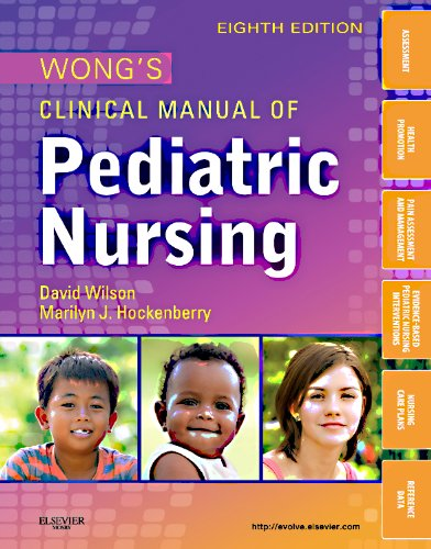 Wong's Clinical Manual of Pediatric Nursing  8th 2012 edition cover