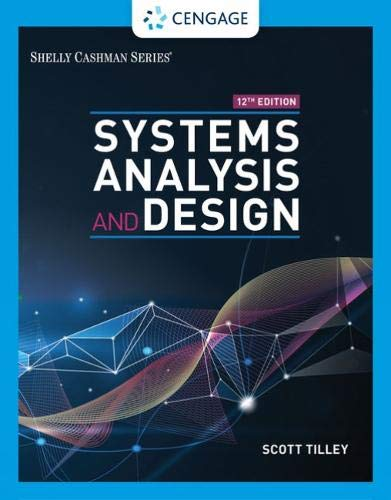 Systems Analysis and Design:   2019 9780357117811 Front Cover