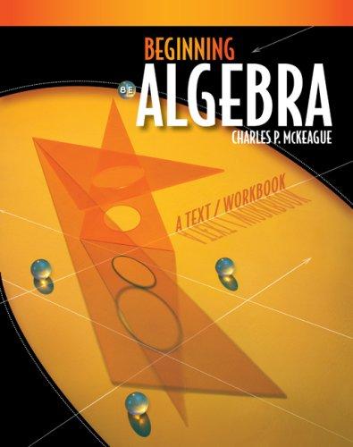 Beginning Algebra  8th 2010 (Workbook) edition cover