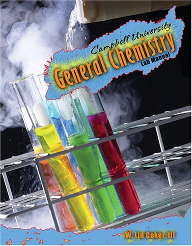 Campbell University General Chemistry Lab Manual Revised  9780757528811 Front Cover