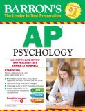 Barron's AP Psychology with CD-ROM, 6th Edition  6th 2014 (Revised) edition cover