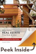 Maryland Real Estate Practice & Law:   2014 edition cover