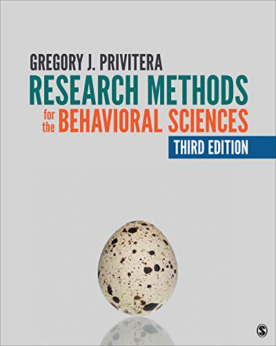 Research Methods for the Behavioral Sciences  3rd 2020 9781544309811 Front Cover