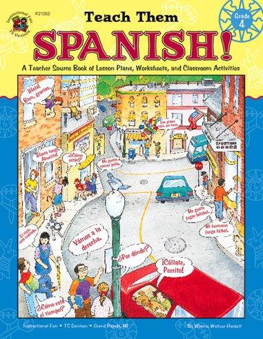 Teach Them Spanish!, Grade 4   1999 edition cover